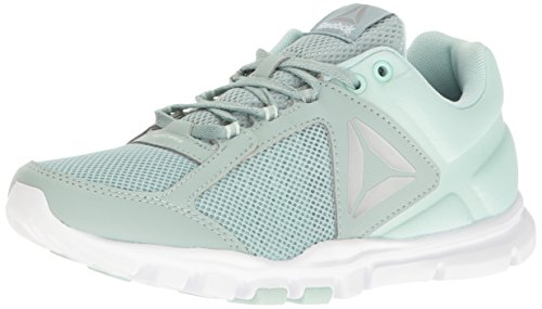 Reebok Women's Yourflex Trainette 9.0 MT Cross-Trainer Shoe, Seaside Grey/Mist/White/Pure Silver/Grey, 5 M US