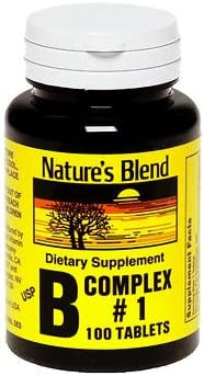 Nature's Blend B Complex #1 Tablets Atlanta Mall 3 100 ct Max 68% OFF Pack of -