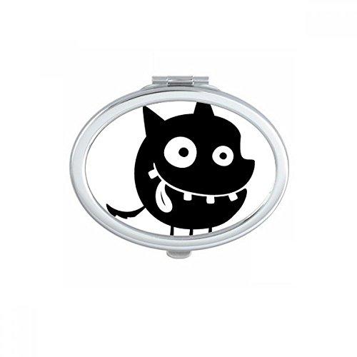DIYthinker Univers et Alien Big Mouth Monstre Ovale Maquillage Compact Miroir de Poche Portable Mignon Petit Miroirs Main Cadeau Multicolor