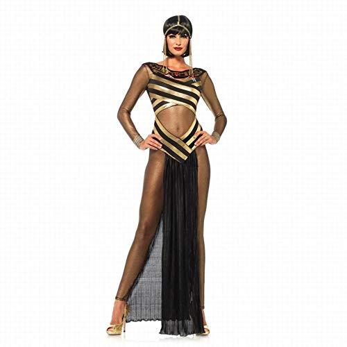 CN Halloween Sexy Transparent Cleopatra Kleidung Bühnenshow Cosplay Uniform,Schwarz,M