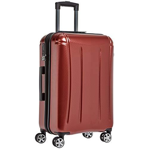 """AmazonBasics - Hochwertiger Hartschalen-Trolley """"Oxford"""", mit Schwenkrollen, 68 cm, Rot"""