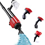 Upgraded Electric Gravel Cleaner Fish Tank, 6 in 1 Sludge Extractor, Tank Siphon, Water Changer, Sand Cleaner,...