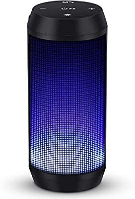 Bluetooth Speaker 4 Colors LED Lights Rich Bass HD Audio 8 Hours Play Time Built in Mic Handsfree Calling from HISOA Direct