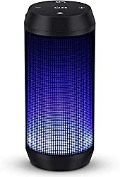 Play up to 8-16 hours on one charge, built-in 1800mAH lithium-ion battery. 2 light modes can be choosed. Multi color cycle light mode / beating music light mode. TWS technology pairing funcation allow you play two speaker at the same time to enjoy th...