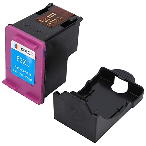 Caja de tinta, cartucho de tinta, oficina de impresora rellenable para la escuela HP63 2130 3630 4520 4650(New version 63XL color)