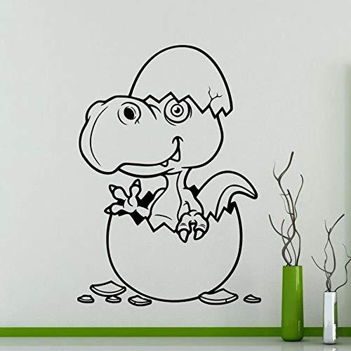 Etiqueta engomada de la pared del huevo de dinosaurio calcomanía de vinilo de dibujos animados para el hogar decoración de la habitación de los niños impermeable mural lindo regalo de niño 63x88 cm