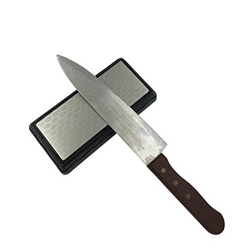 Werse doppelseitiger Diamant-Schleifstein-Küchen-Messer-Anspitzer-Werkzeug-Schleifstein 400# 1000# Korn HT324