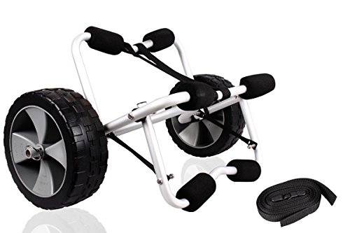 TMS CART-CANOE/KAYAK-KY001((B)) Deluxe Boat Kayak Canoe Carrier Dolly Trailer Tote Trolley Transport Cart Wheel