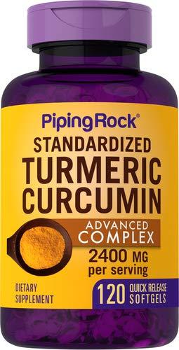 Turmeric Curcumin Advanced Complex, 2400 mg (per Serving), 120 Quick Release Softgels