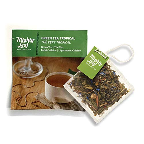 Mighty Leaf Tea Green Tea Tropical Tea Pouches, 100ct Green Tea Bags in Individual Foil Packs