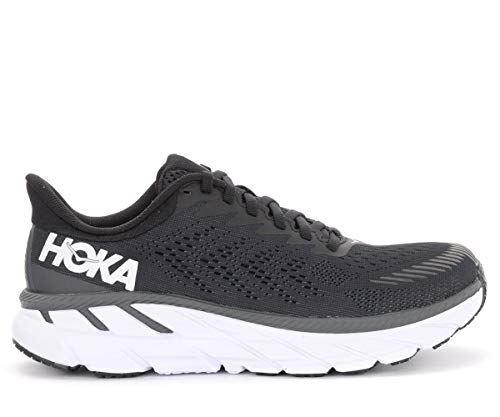 HOKA ONE ONE Clifton 7 Chaussures de course pour femme, (noir/blanc), 38.5 EU