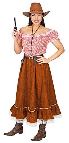 Cowgirl Kitty - Disfraz para Mujer (2 Piezas) - Fiesta del Vaquero Occidental. Multicolor 38-40