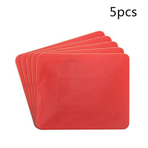 NOBRAND Autofolie gereedschap trapeziumvormige zachte schraper 5 Stks/verpakking, professionele verpakking schraper gereedschap lijm machine schraper auto van fietstas rood