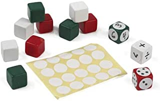 EAI Education Blank Dice and Labels - Set of 12