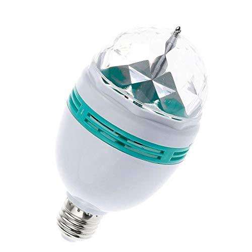 Luccase LED Flash Lichter Bunte Automatische Drehbare Bühne Lichter LED Magischer Ball Lichter Stage Lights Bar Flash, Weiß Kunststoff Gehäuse