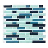 Azulejos Adhesivos, 4 Piezas Pegatinas de Baldosas 28X25cm 3D Auto-Adhesivo Pegatinas de Azulejos...