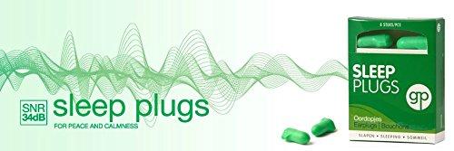 Get Plugged Sleep Plugs. 3 Paar Ohrstöpsel zum Schlafen, Ausruhen, zu studieren. Sehr hoher Dämpfungsfaktor – Gehörschutzstöpsel Schaum. - 3