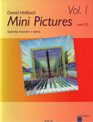 Mini Pictures Band 1 - Sehr leichte poppig-rockige Stücke für Sopranblockflöte, Klavier als Ergänzung zu jeder Schule im 1. Jahr - Noten mit CD und mit bunter herzförmiger Notenklammer