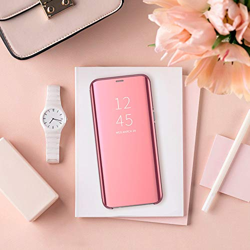 Kompatibel mit Huawei P20 Hülle, Clear View Protective Standing Cover Huawei P20 Handyhülle Flip Cover Spiegel Schutzhülle für Huawei P20 Handyhülle (1) - 2