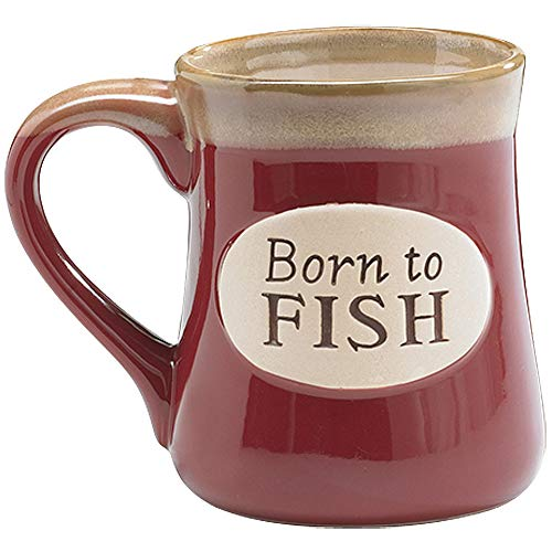 Born To Fish Coffee Mug with Fishermans Serenity Prayer Great Fishing Gift