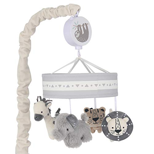 Lambs & Ivy Animal Jungle Musical Baby Crib Mobile Soother Toy - Multicolor