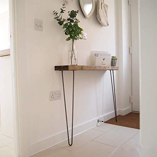Mltdh Konsolentisch, einfacher schmaler Seitenwandtisch, nordischer Eingangstisch, eiserner Schmiedetisch, Wohnkultur für den Eingangsbereich, Wohnzimmer, Schlafzimmer,Black Legs,80x20x80cm