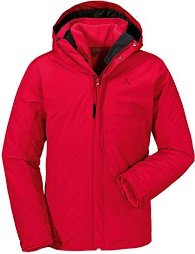 Schöffel Herren 3in1 Jacket Turin1 Doppeljacke, racing red, 52