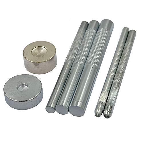 DGOL 7 pcs Metal Domed Rivet Fixing Setting Tool Spike Rivets Setter