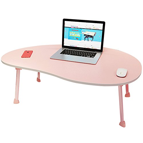 XIA Mango Forme Lit Bureau D'ordinateur Bureau Étudiant Table Table D'étude Bureau D'écriture Petite Table Dortoir Pliable Simple Table D'ordinateur Portable Noir Bleu Vert Rose Rouge Blanc Stable Et