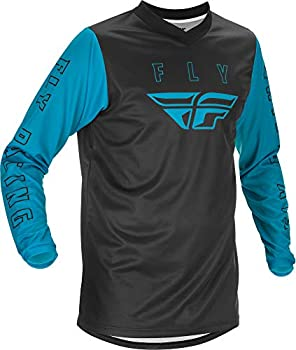 Fly Racing Adult F-16 Motorsports Jersey Black/Blue XXX-Large