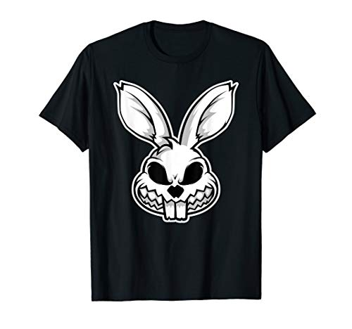 Angry smiley face of evil Rabbit t-shirt