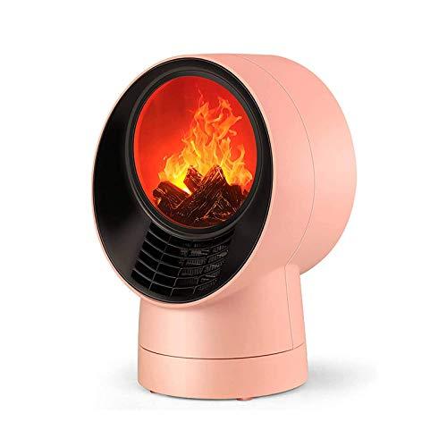Wgwioo Calentador De Espacio, Efecto De Llama De Simulación 3D, Calentadores De Cerámica PTC Silenciosos con Protección contra Sobrecalentamiento De Vuelco De 80 °, para Oficina En Casa