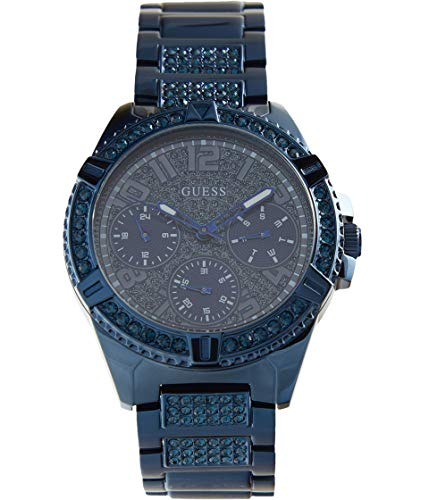 GUESS Women's Quartz Watch with Stainless Steel Strap, Blue, 20 (Model: GW0044L2)
