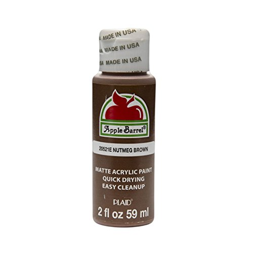 Apple Barrel Acrylic Paint in Assorted Colors (2 oz), 20521, Nutmeg Brown