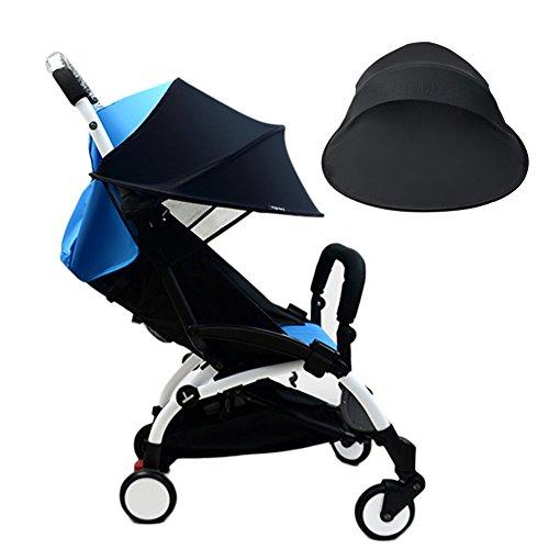Pare Soleil poussette bébé, bébé anti UV Chiffon Poussette Housse de pluie coupe-vent imperméable protection solaire Parapluie Auvent de protection Accessoires