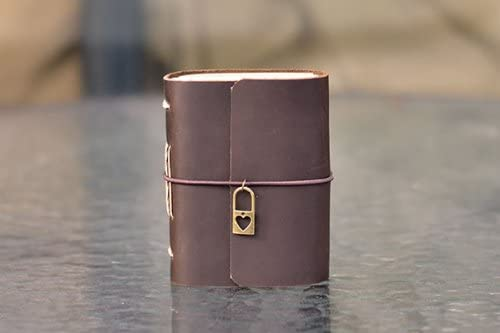 Ancicraft Pocket Leather Journal with Limited price Heart Handmade Charm Lock Spring new work