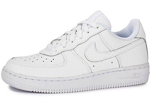 Nike Force 1 (PS), Scarpe da Basket, White/White-White, 27.5 EU