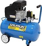 SAURIUM - Compresor de Aire - Monobloco - 50L 1.5HP - - Cabeza de grandes...