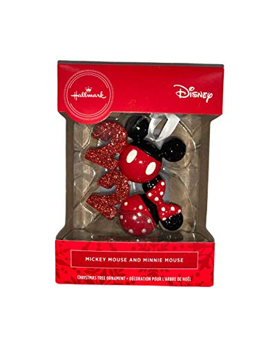 SERIN Hall Mark Mickey & Minnie Mouse 2020 RED Box Christmas Ornament