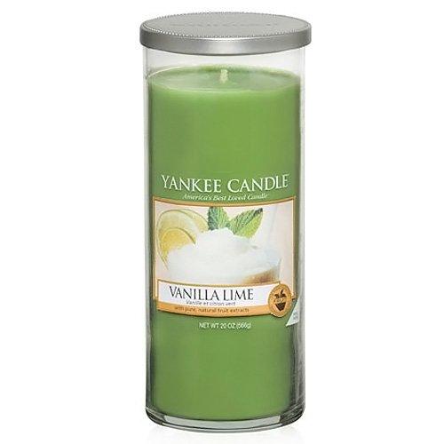 "Yankee Candle ""Vanilla Lime"" Stumpenkerze, grün, groß"