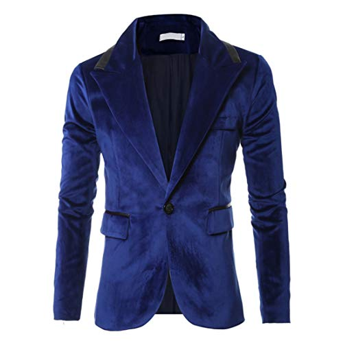 NLZQ Men's and Winter Casual Corduroy Slim Long Sleeve Coat Suit Jacket Slim Fit Comfortable Classic Blazer Top Single Breasted XXL