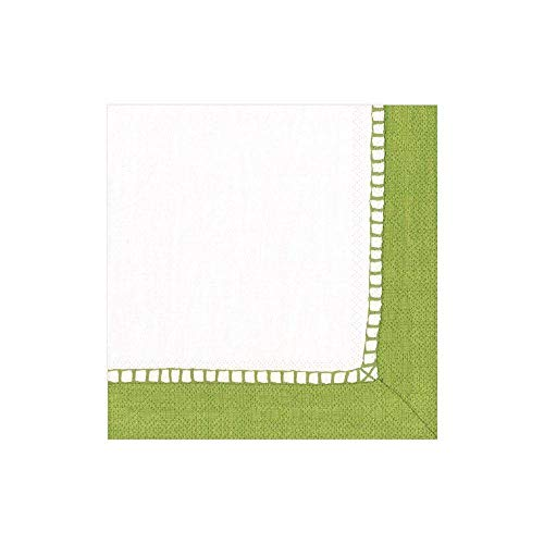 Caspari Entertaining with Lot de 20 Serviettes de Table en Papier Vert Vif