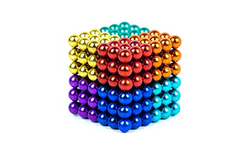 NBZXSYMAG 5 mm Magnetic Balls Cube Fidget Gadget Toys Rare Earth Magnet Office Desk Toy Games Magnet Toys Multicolor Beads Stress Relief Toys for Adults (8 Colors)