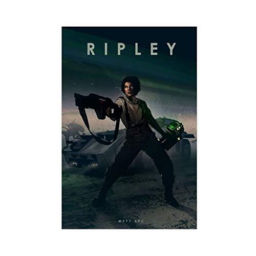 Movie Ripley 1 póster de lona para pared, decoración de salón, dormitorio, decoración de dormitorio, 60 x 90 cm