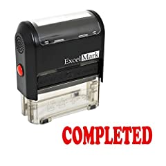 """Features a two-sided ink pad that doubles the number of impressions and the useful life of the stamp pad Attractive, clear mount which allows you to accurately line up your stamp impression Re-inkable Prints in Red Ink Impression Area: 9/16"""" x 1-1/2"""""""