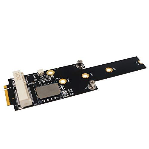 WOVELOT Adaptador PCI-E a M.2 (NGFF) Key M con Ranura para Tarjeta SIM para MóDulo WiFi/WWAN/LTE