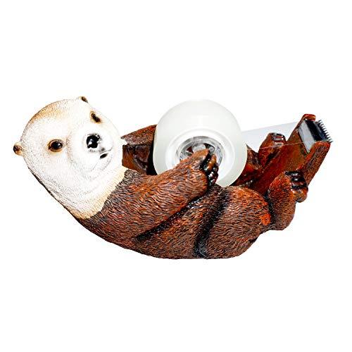 Otter Tape Dispenser Roll Holder Resin Stationery Desk Organizer School Office Supplies Cute Animal Decor Figurine