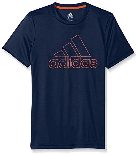 Adidas Boys' Toddler Short Sleeve Logo Tee Shirt, Collegiate Blue, 2T