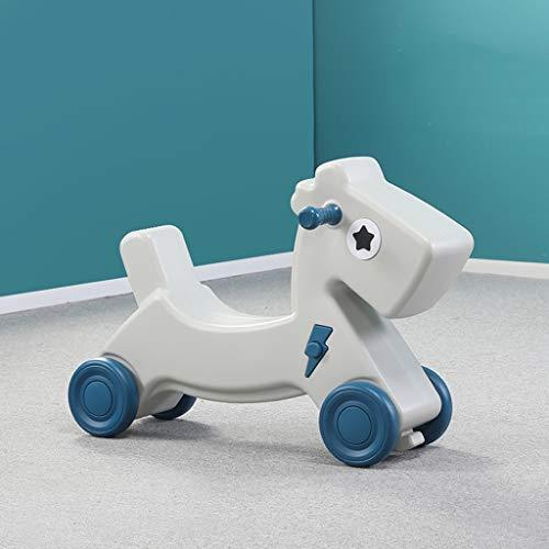 LINGZHIGAN Cheval de Troie Enfant Rocking bébé Year Old Toy Cadeau bébé Diapo Rocking Chair (Color : Blue)