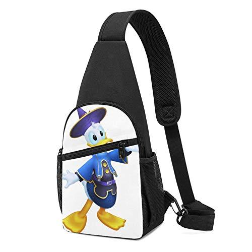 Donald Duck - Bandoleras multifunción para mujer y hombre, bolsa de hombro para viajes, senderismo, camping, ciclismo, mochila informal